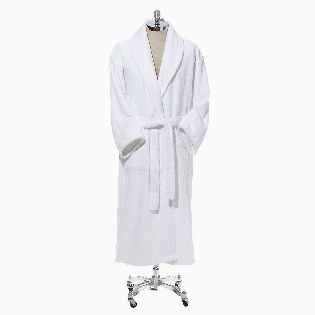 Bed & Bath White Luxury Bath Robe from Bed & Bath, Inc. | A family owned company specializing in Rollaway Folding Beds & Guest Products