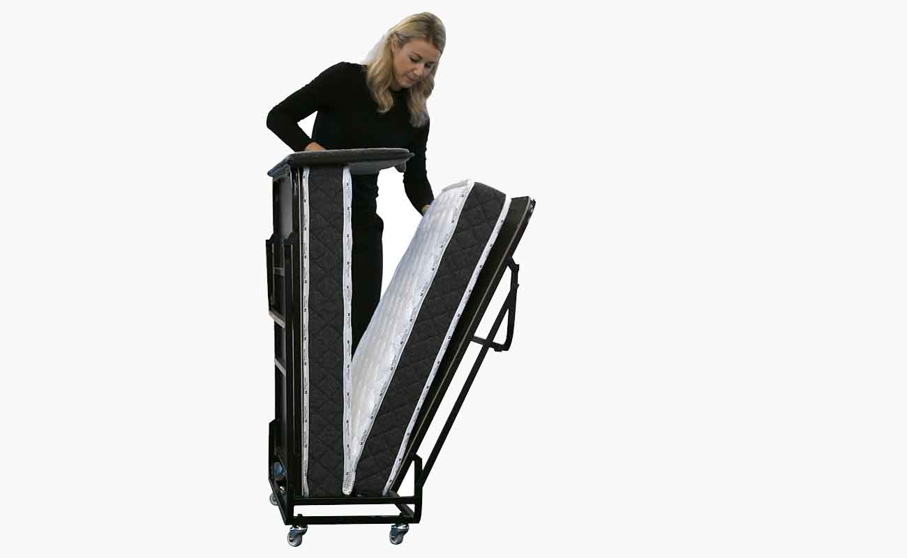 Unfolding the Edward® Rollaway Folding Bed (Pin Pan Pun) from Bed & Bath, Inc. | A family owned company specializing in Rollaway Folding Beds & Guest Products